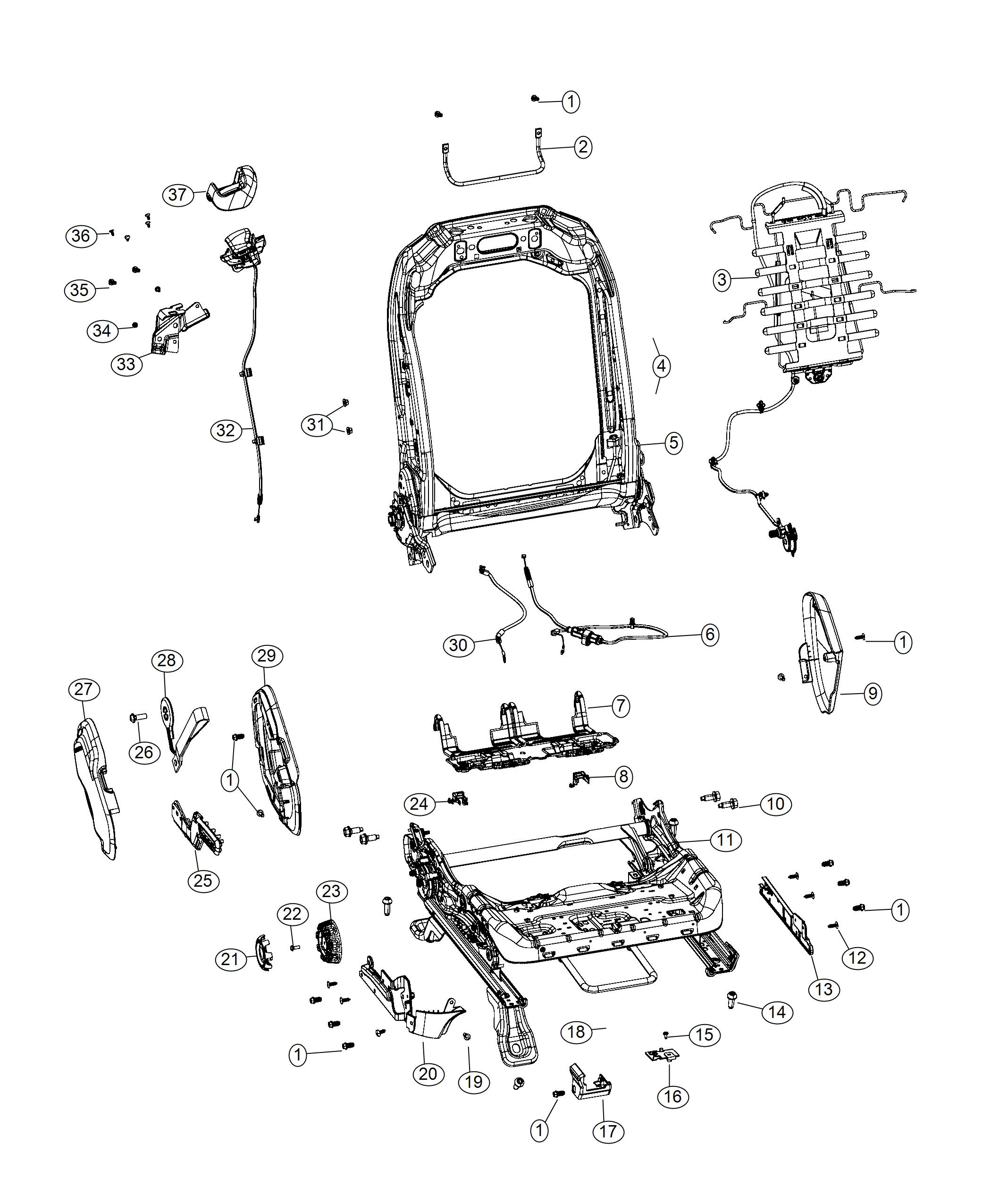 Jeep Wrangler Used For Handle And Cable Seat Release
