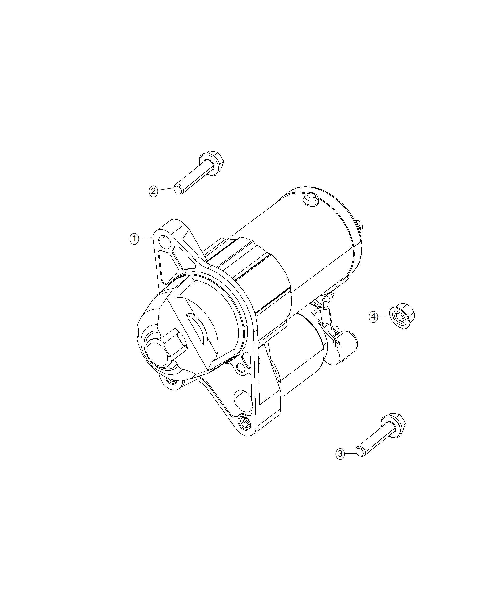 Jeep Compass Starter Engine Power Train Parts Module