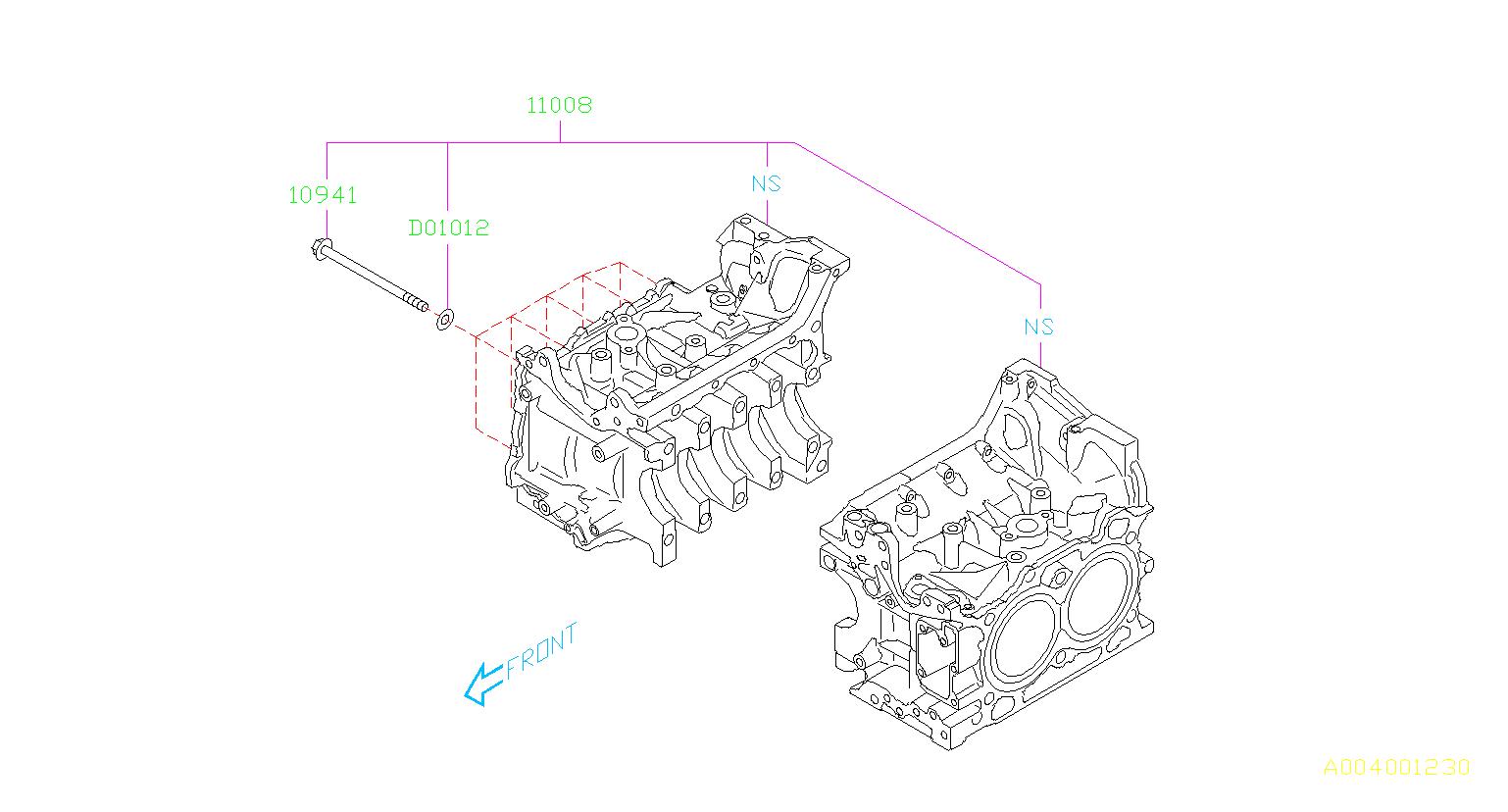Subaru Brz Bolt Cylinder Block Body Engine Cooling