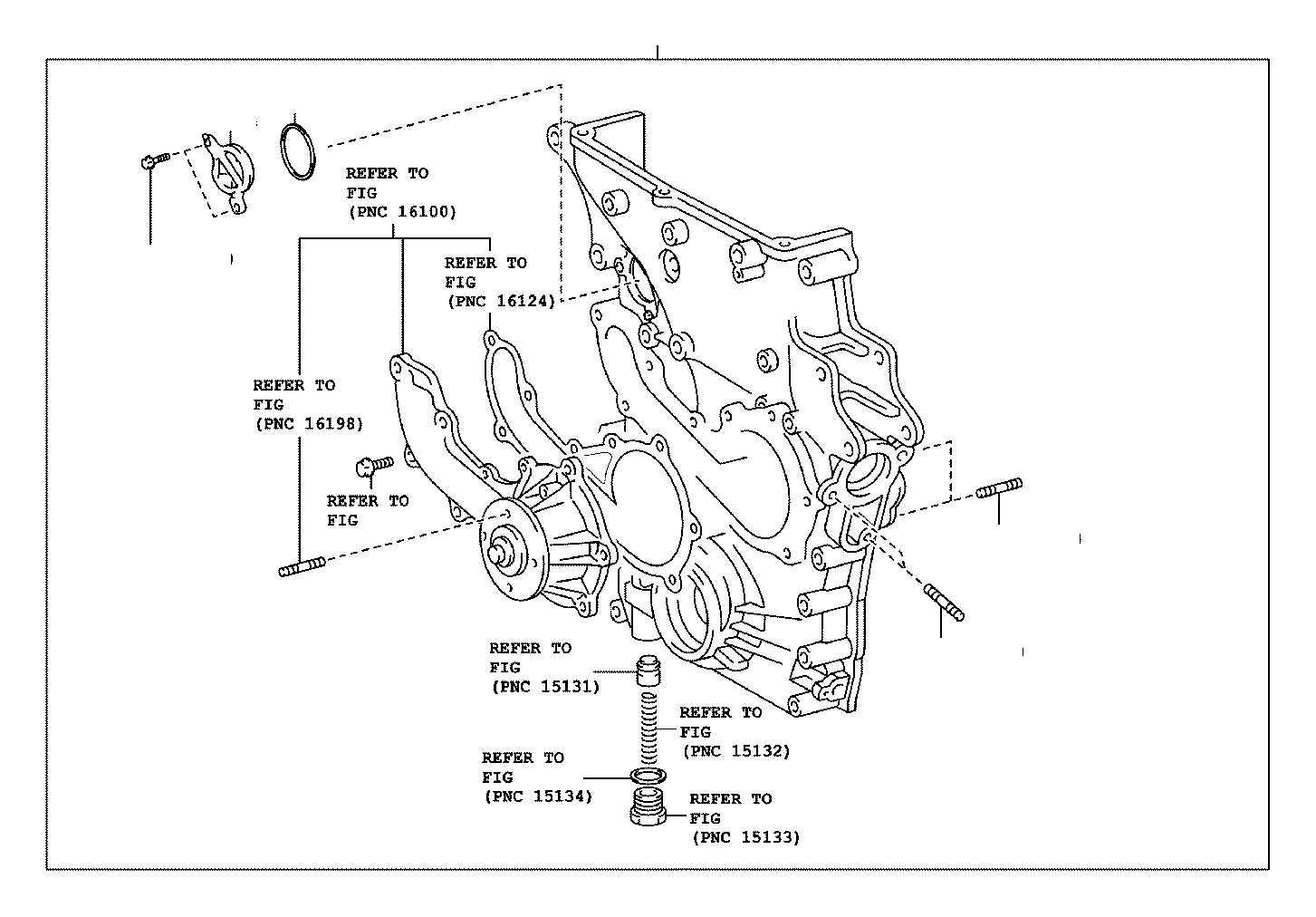 Toyota Tacoma Engine Timing Cover