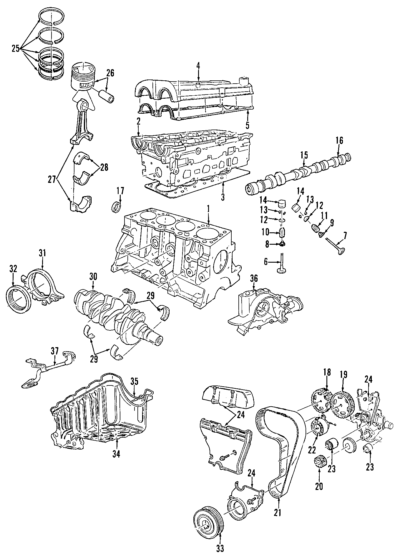 Mercury Cougar Engine Timing Belt Idler Left Side Dohc