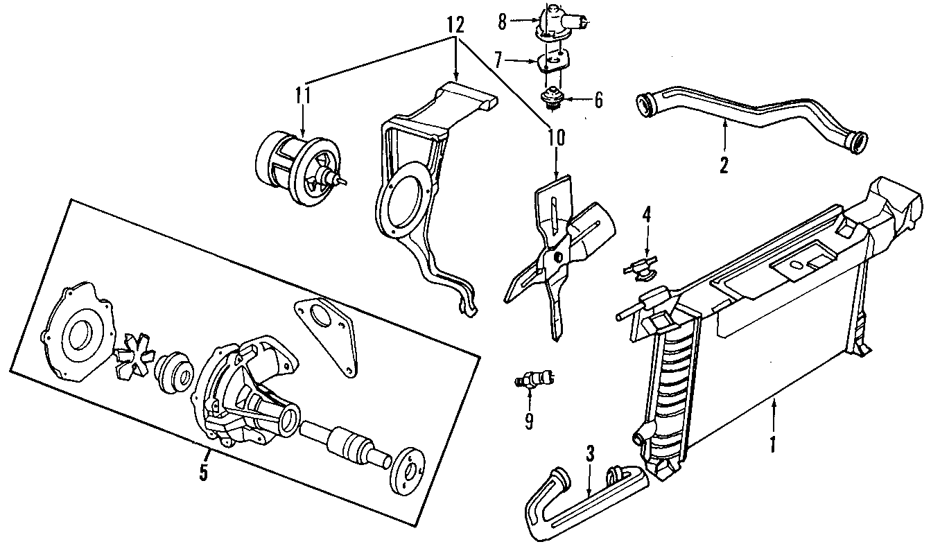 Ford Ranger Engine Coolant Thermostat Gasket Engine