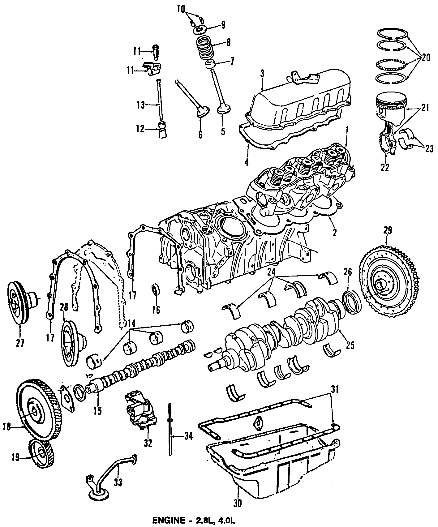 Ford Bronco Ii Engine Crankshaft Seal Rear