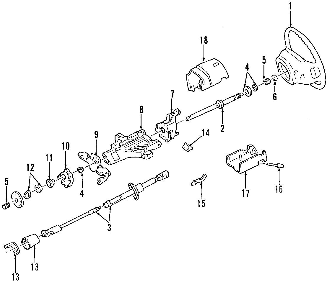 Ford F 250 Super Duty Steering Shaft Upper Lower