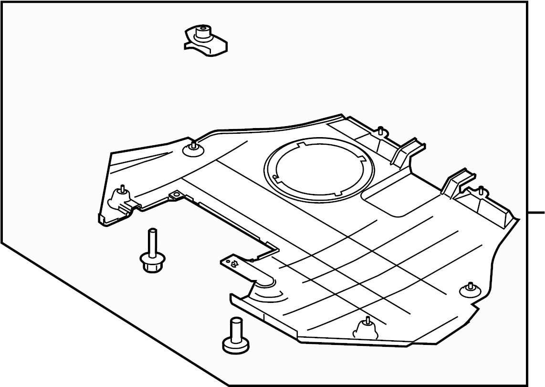 Lincoln Mkz Radiator Support Splash Shield Front Lower