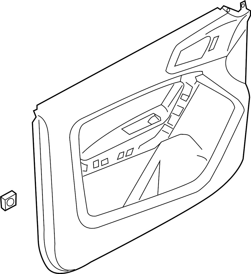 Ford Ranger Door Interior Trim Panel Crew Cab Xlt Stone