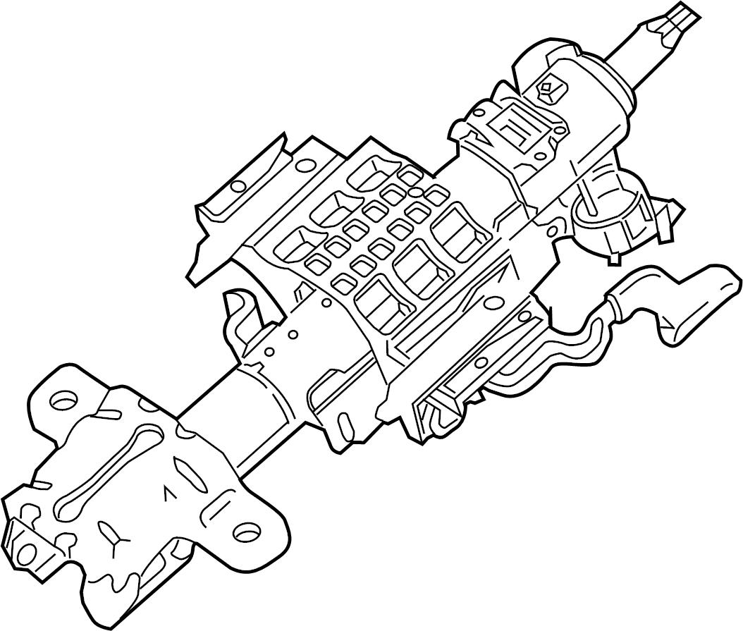 Ford F 250 Super Duty Steering Column F250 F350 Super