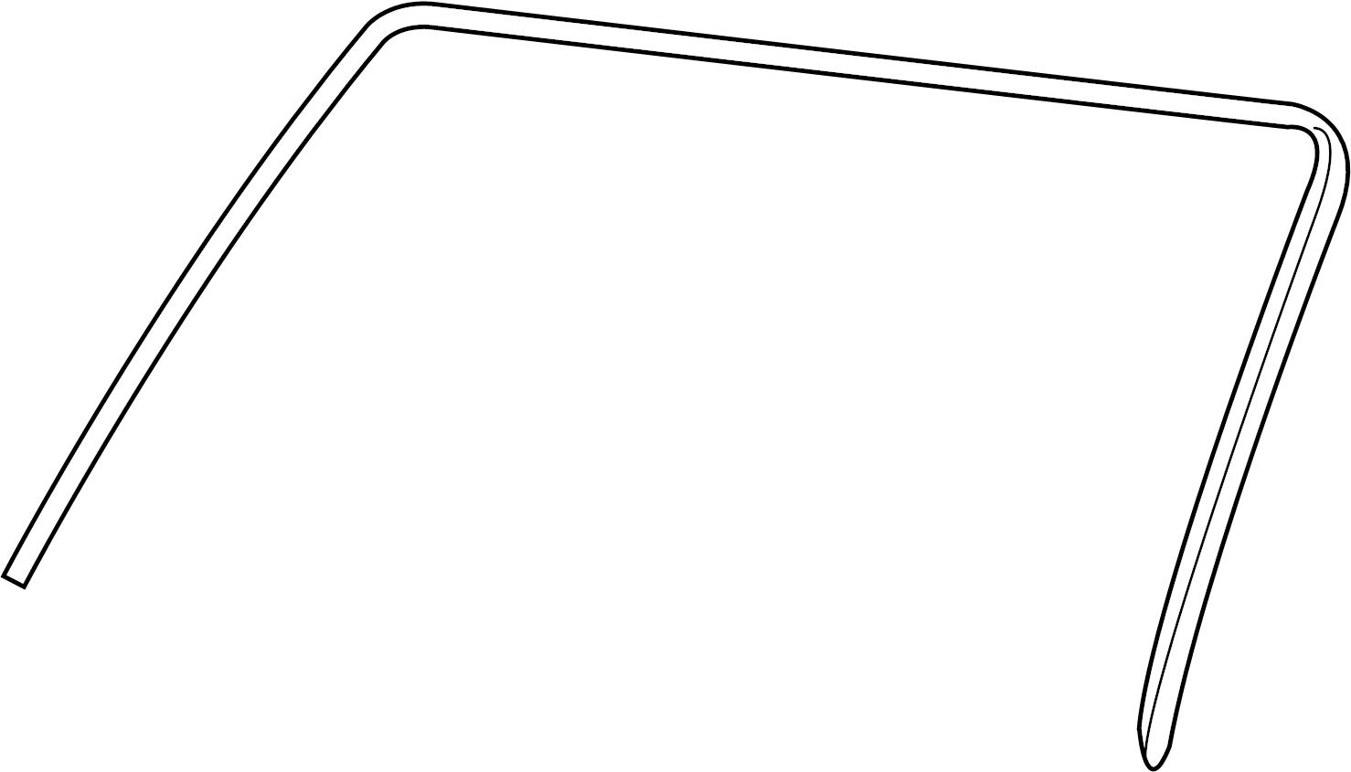 Ford Explorer Sport Trac Windshield Molding Lower