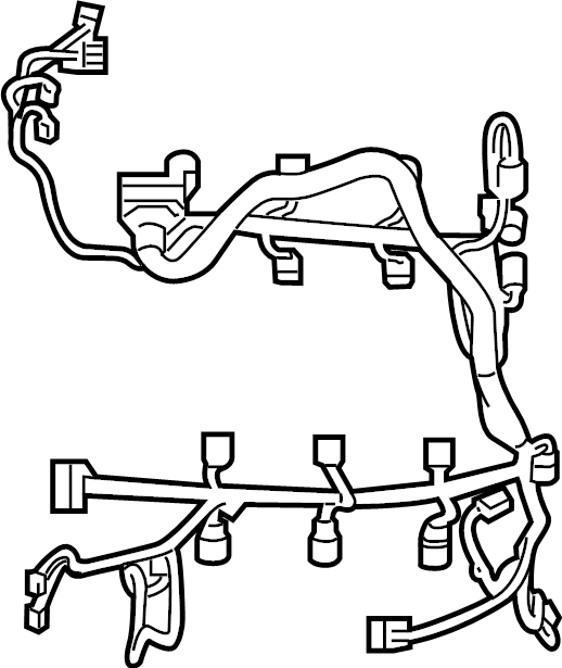 Lincoln Corsair Wire Harness Wiring Assembly Engine