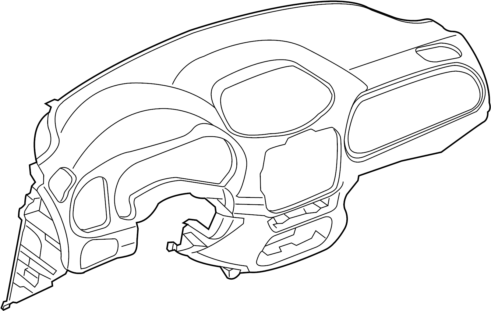 Ford Ranger Dashboard Panel Upper Xl Xlt Instrument