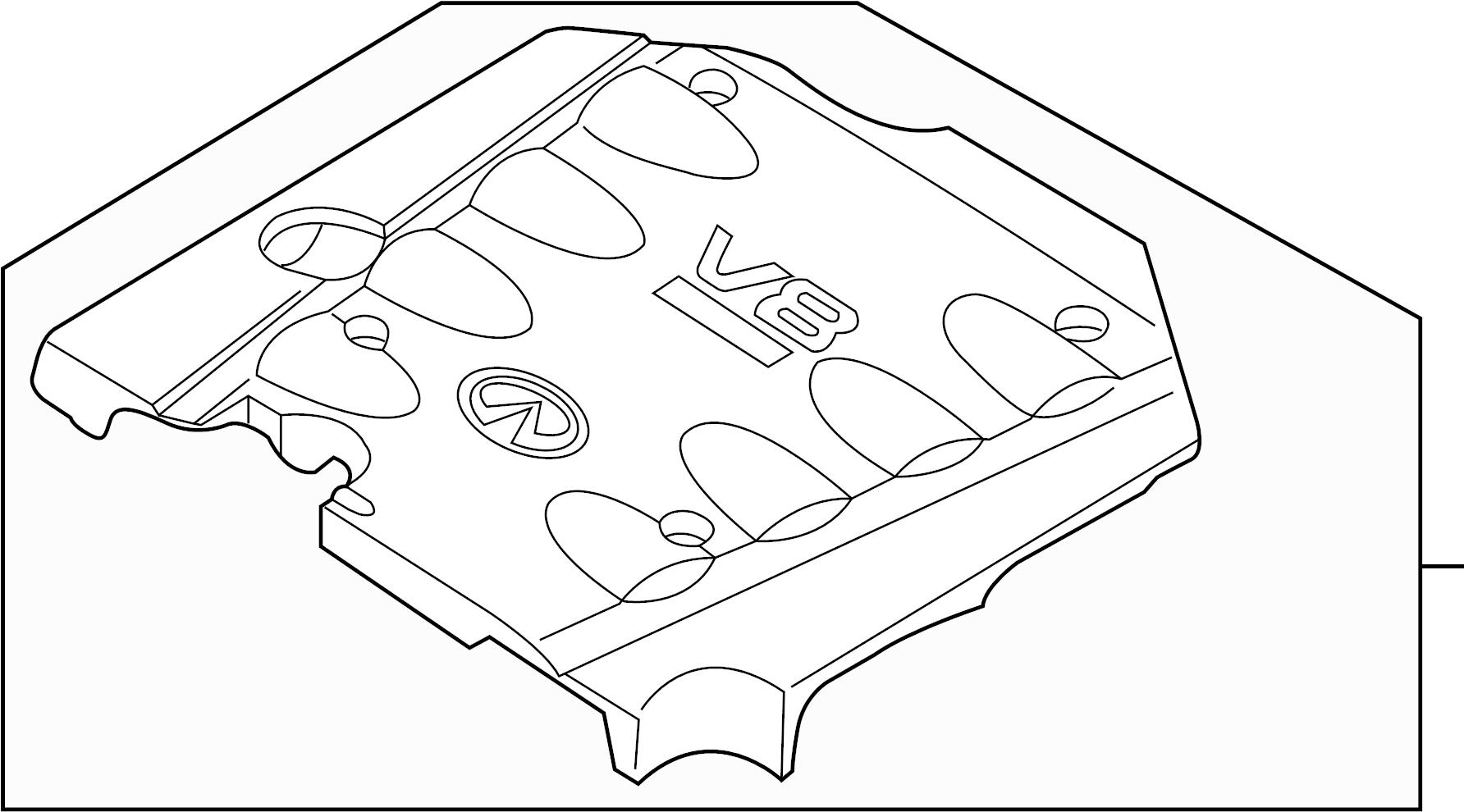 Infiniti Q45 Engine Cover Intake
