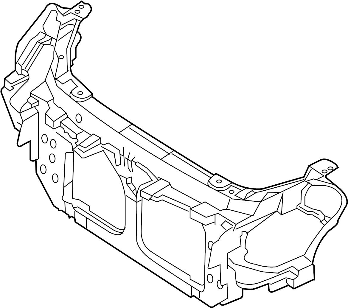 Infiniti G35 Radiator Support Panel