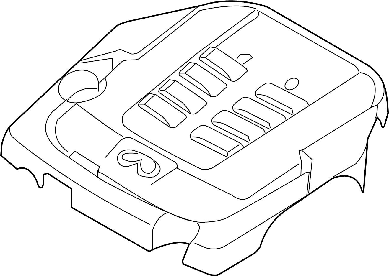 Infiniti M37 Engine Cover Exhaust