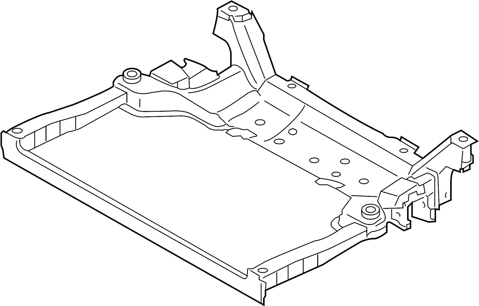Infiniti M37 Engine Cradle Front Member Absorber