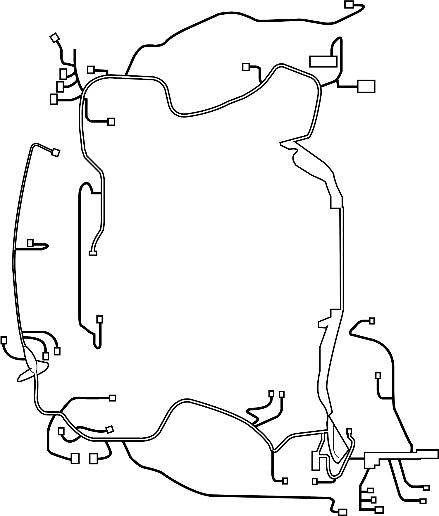 Infiniti G37 Engine Wiring Harness Room Other