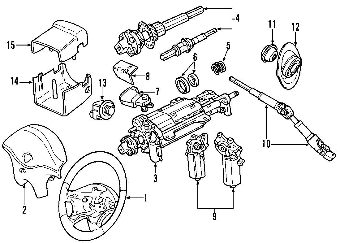 Jaguar S Type Steering Column 02 W O Lock S Type