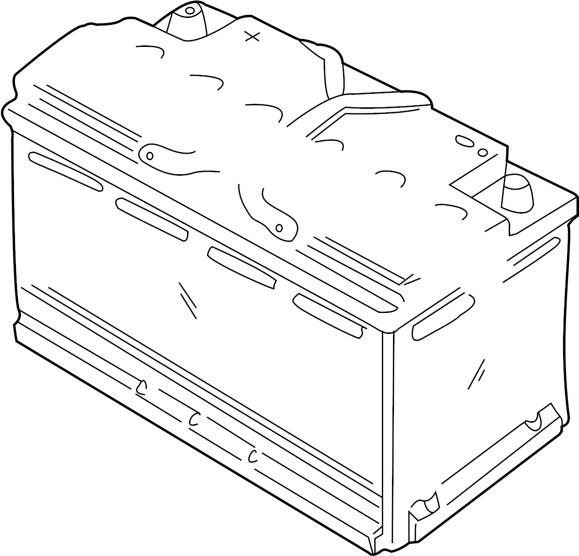 Jaguar S Type Battery Part Located On The Spare Wheel