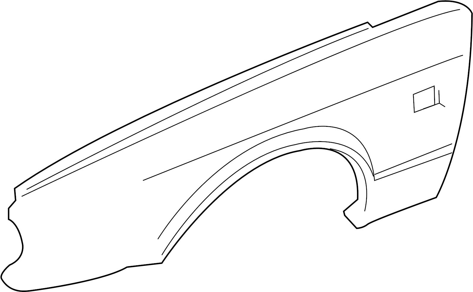 Jaguar Xjr Fender Front Left W O Super V8 Components