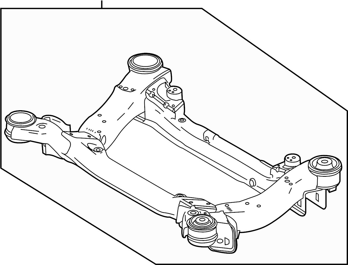 Jaguar Xjr Engine Cradle Front Suspension Crossmembers