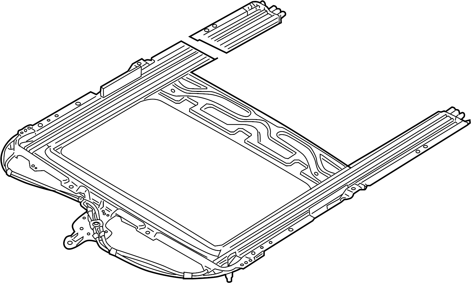Jaguar Xj8 Frame Mechanism Sunroo