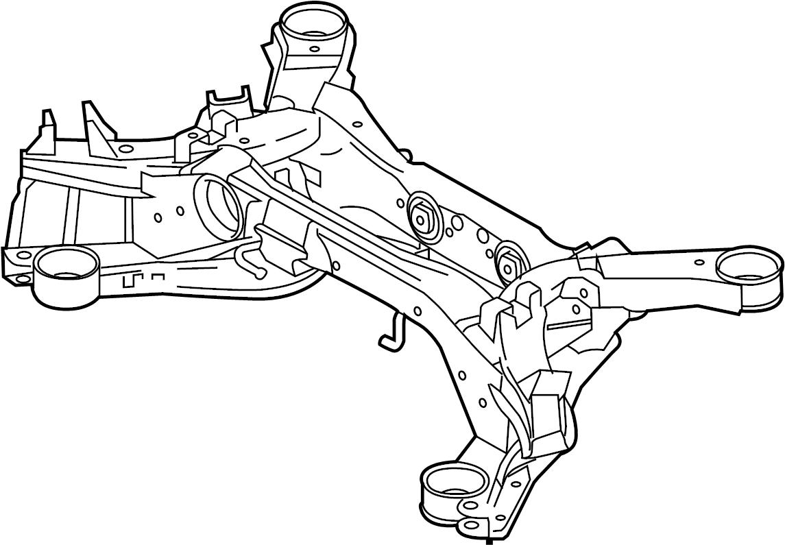 Jaguar Xj8 Suspension Subframe Crossmember Rear Vin
