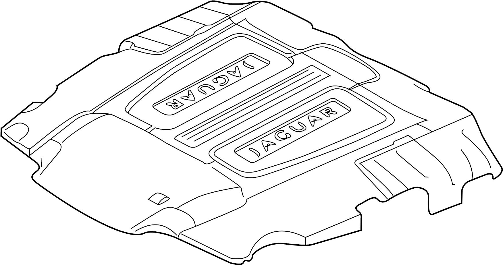 Jaguar Xfr S Engine Cover Wsupercharger Liter