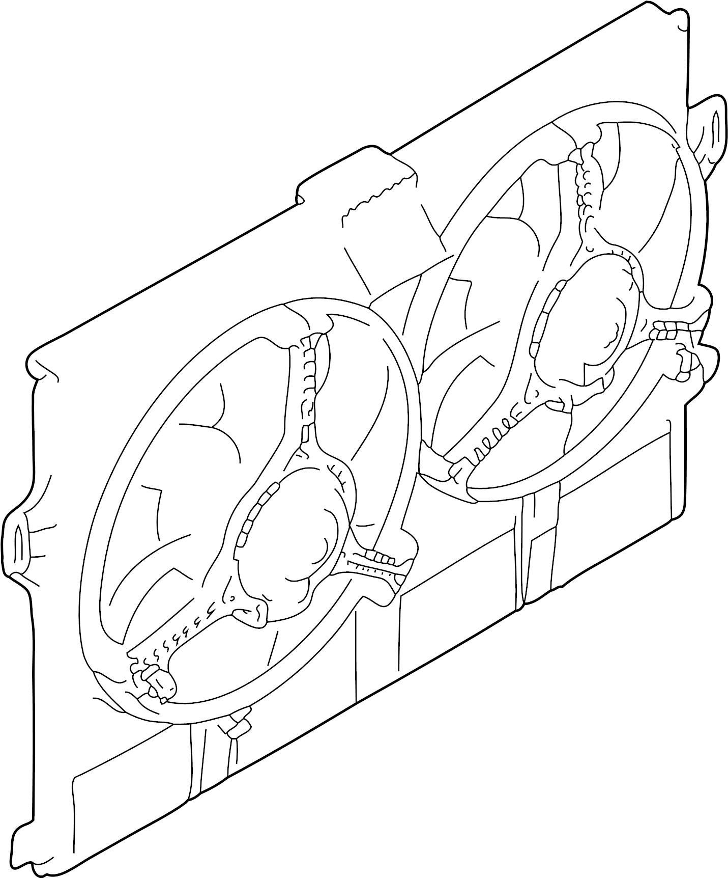 Jaguar Xj8 Engine Cooling Fan Assembly Radiator Motor
