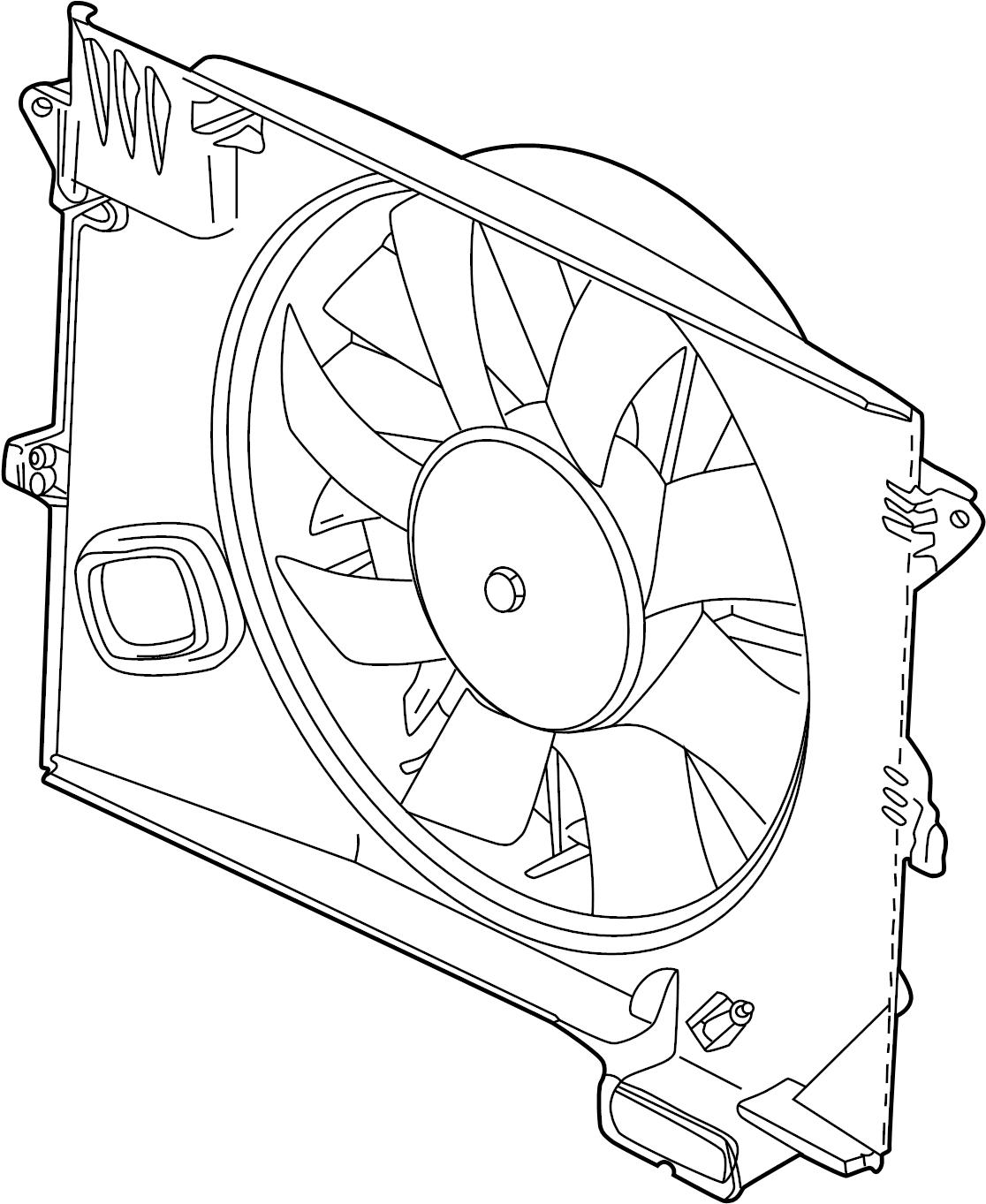 Jaguar Xk8 Engine Cooling Fan Assembly