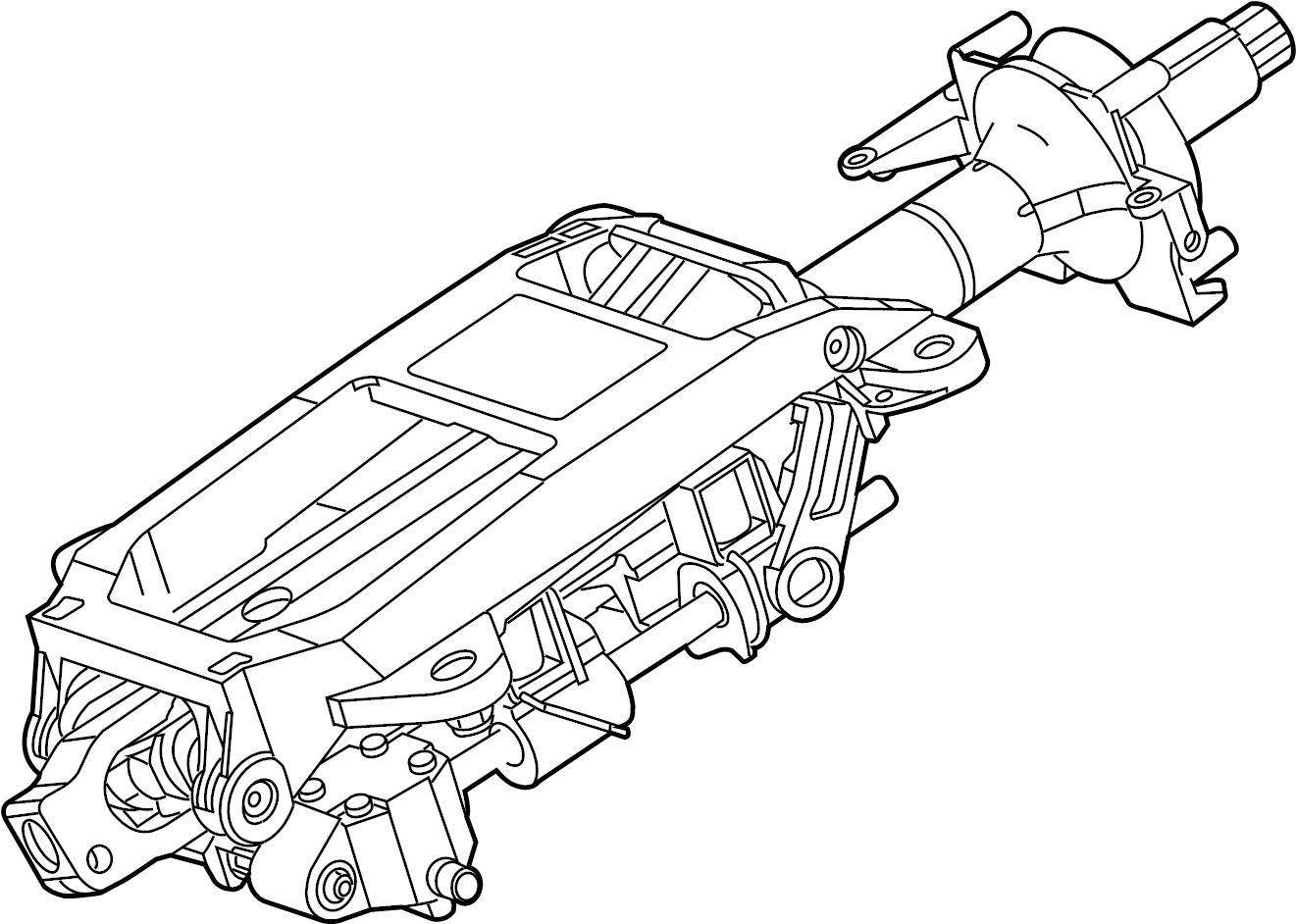 Jaguar Xk8 Steering Column Vin Adjust Power