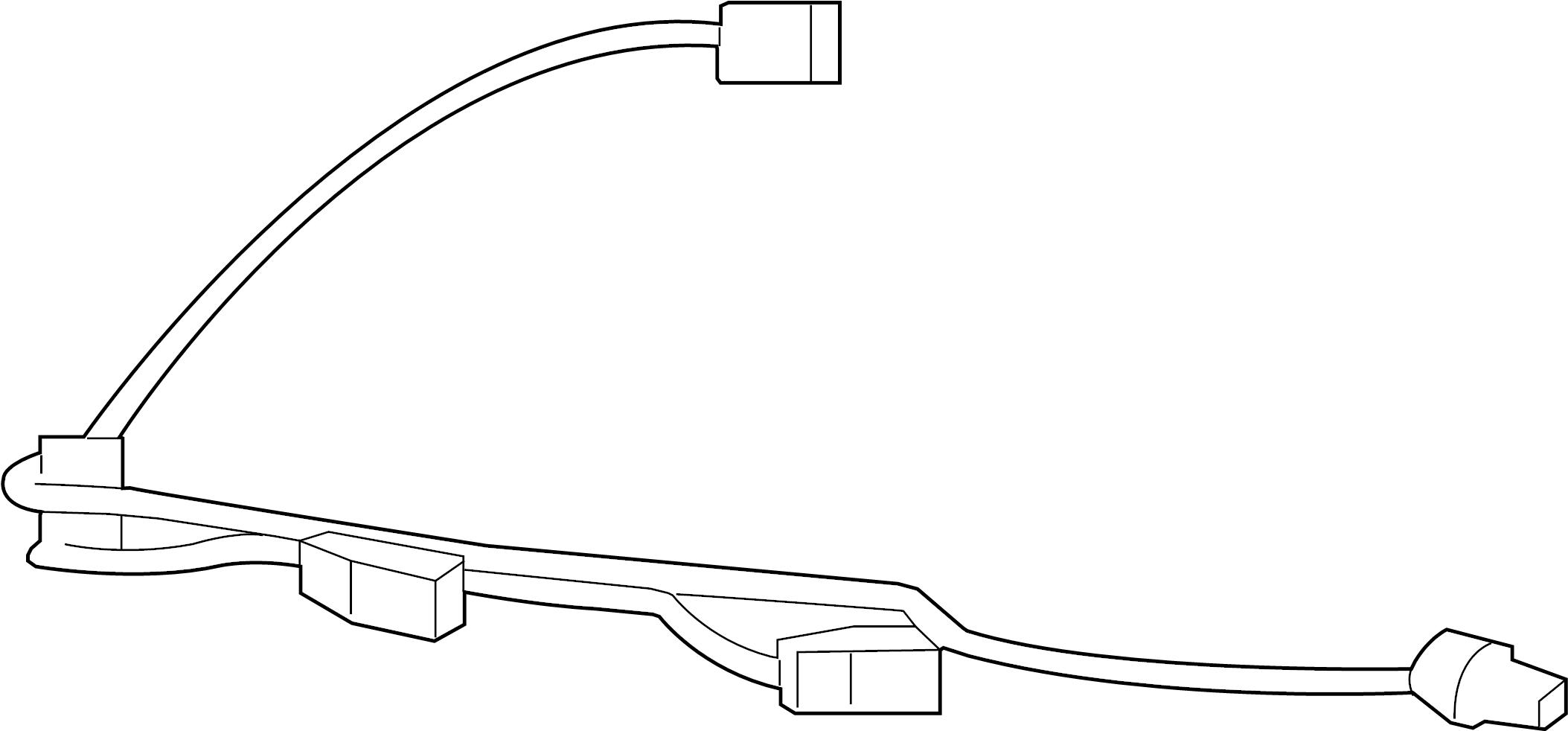 Jaguar Xf License Plate Light Assembly Connector Rear