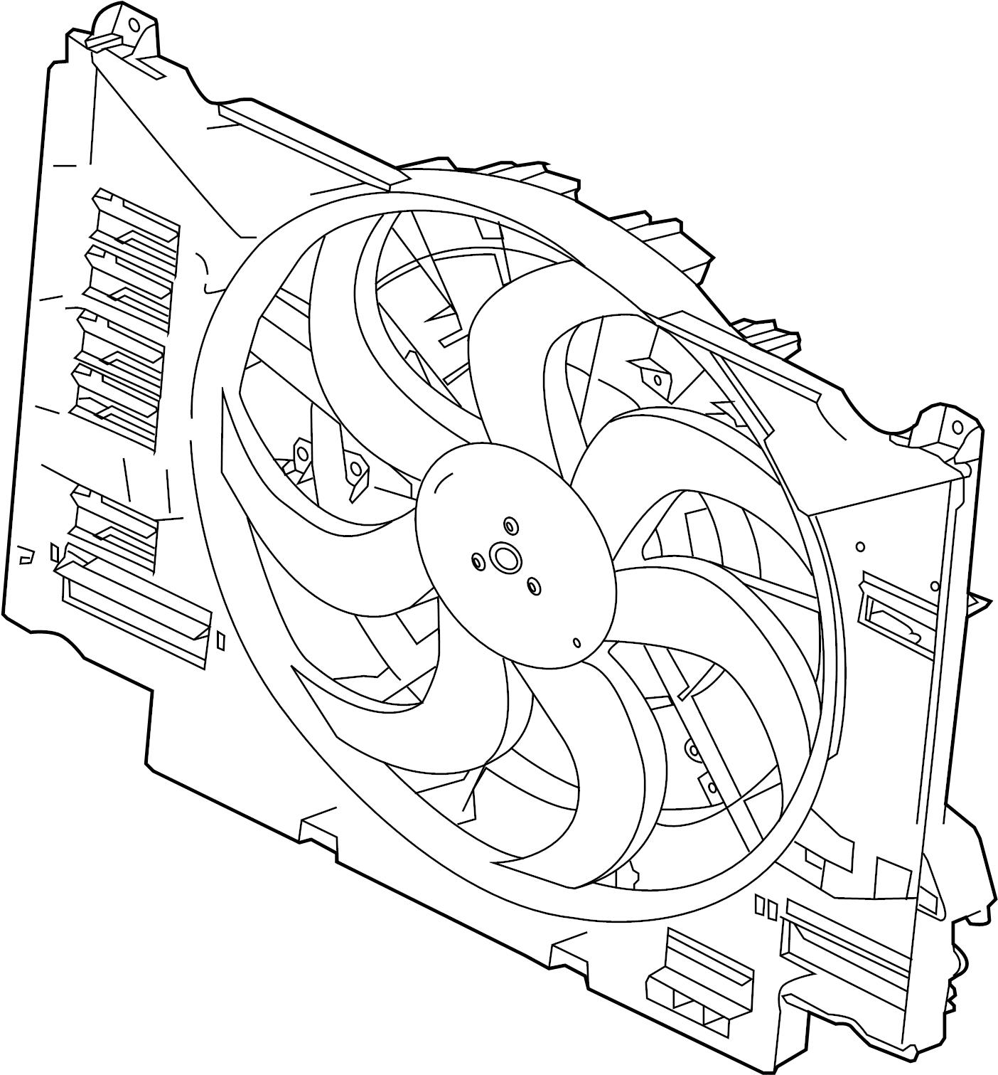 Jaguar Xe Fan Amp Cowl Fan Amp Motor Fan Assy