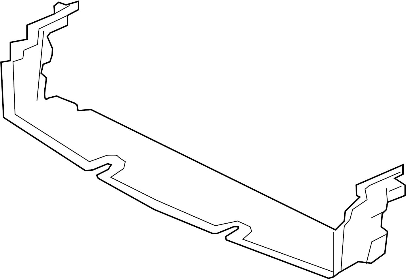 Jaguar F Pace Deflector Shield Lower Deflector Radiator Support Air Deflector Shield
