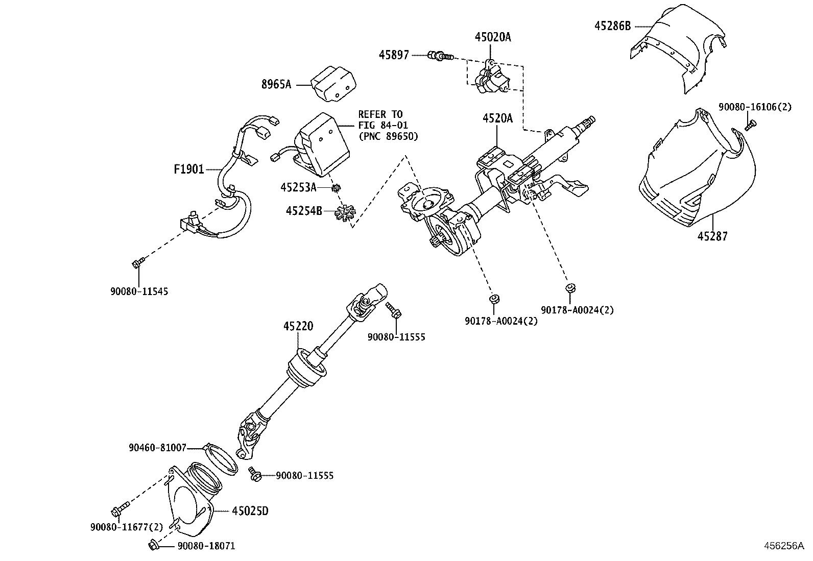 Toyota Avalon Spacer Electric Power Steering Motor Shaft