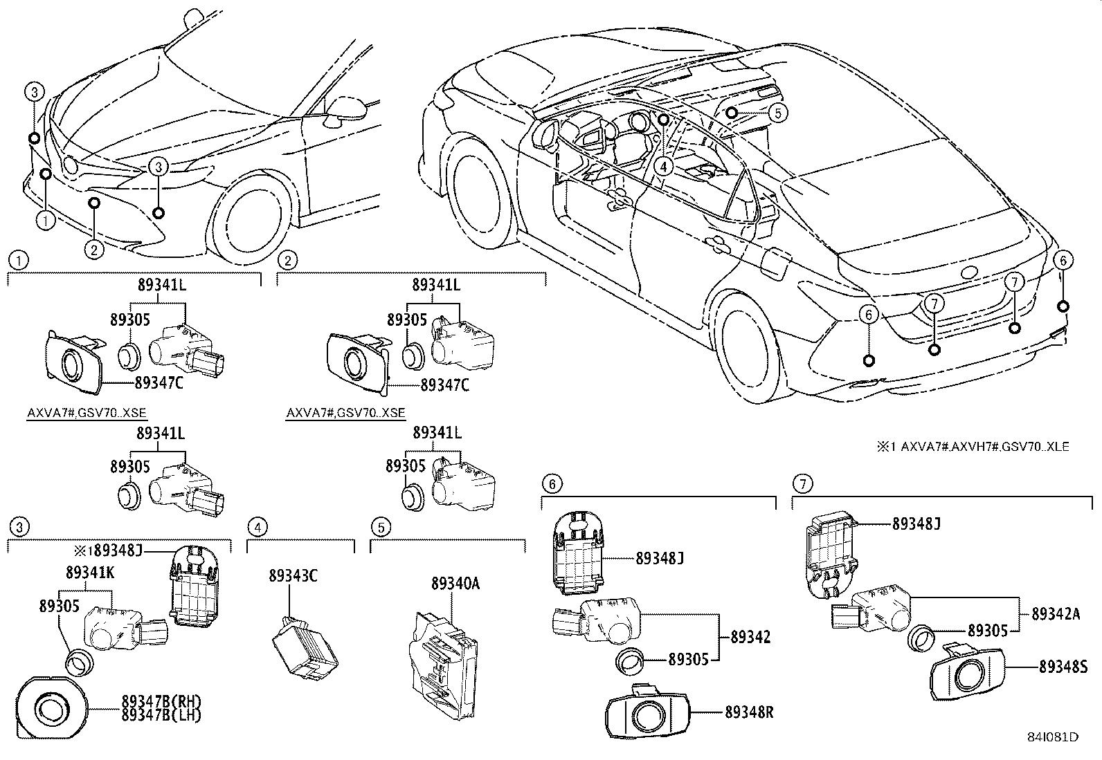 Toyota Camry Parking Aid Sensor Housing Front
