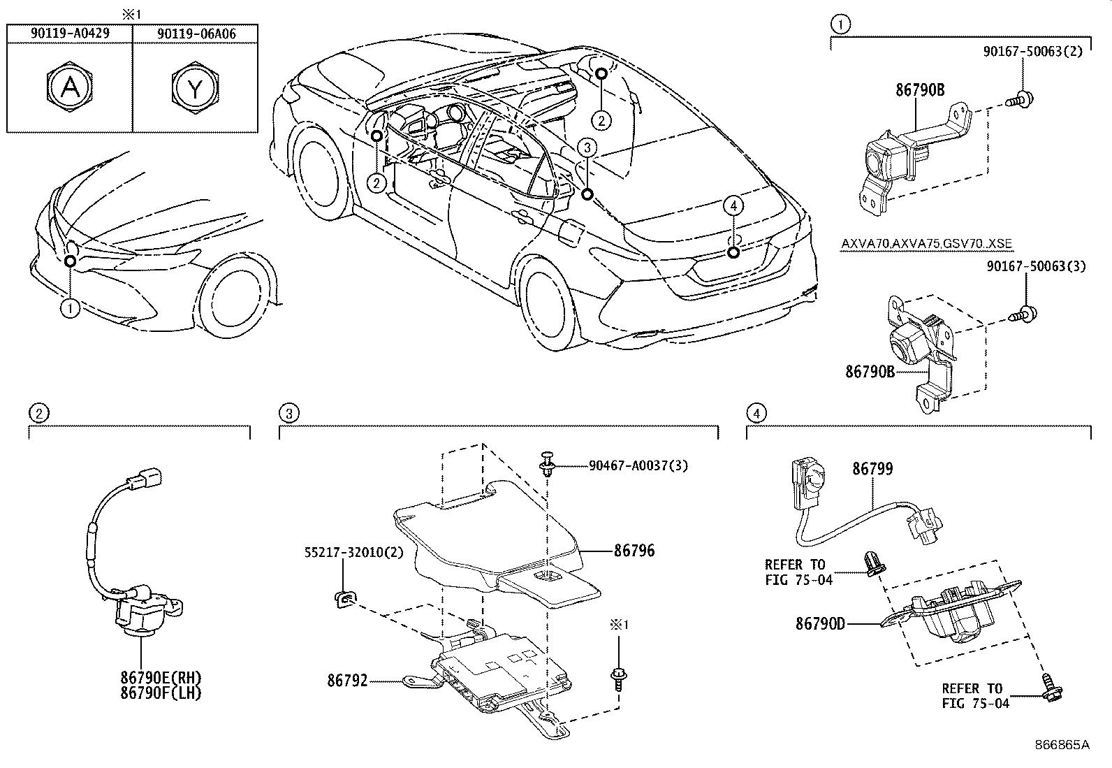 Toyota Camry Parking Aid Control Module Computer Parking