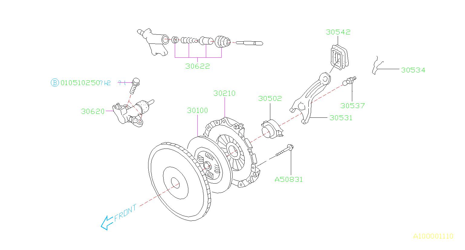 Subaru Baja Cylinder Assembly Clutch Operate