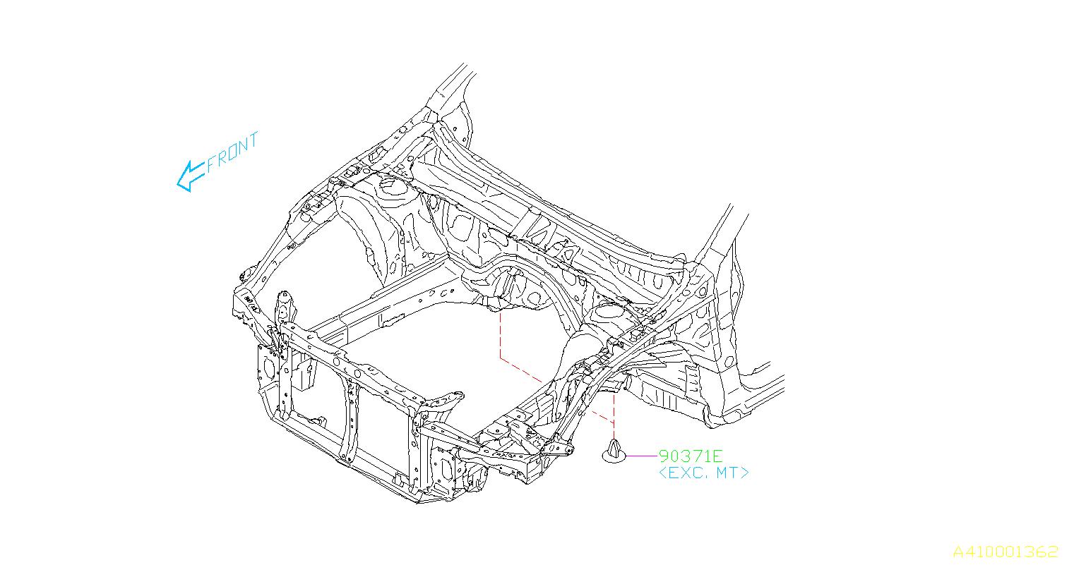 Subaru Outback Plug 12 Mounting Maintenance Protector