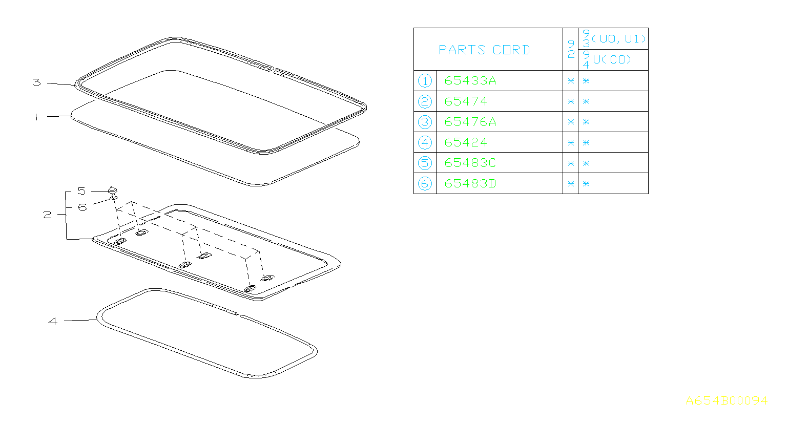 Subaru Svx Clip Cap For Sn R Trim Sun Roof Panel
