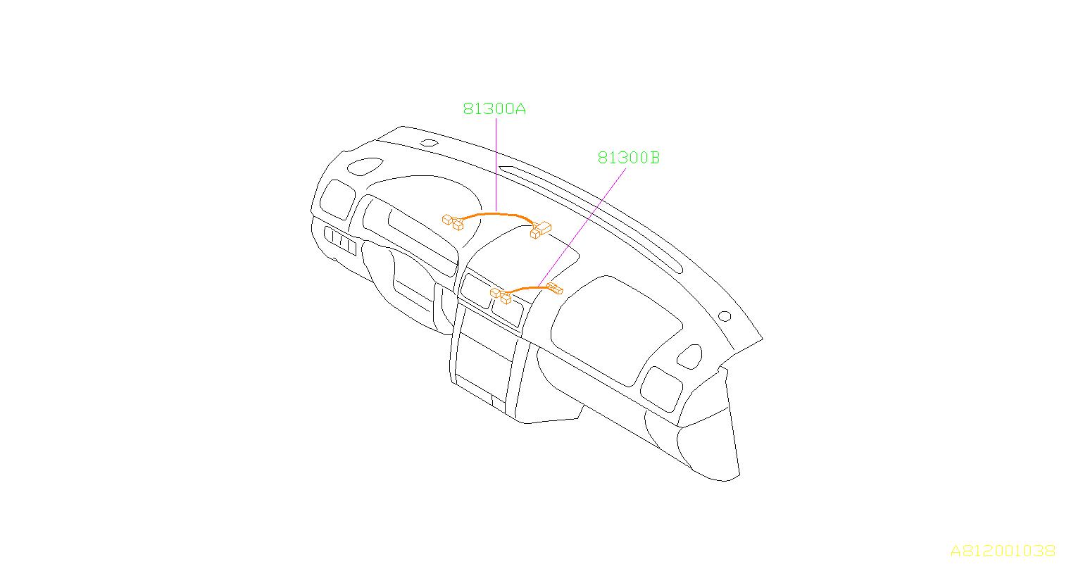 Subaru Impreza Harness Instrument Panel Combi Meter