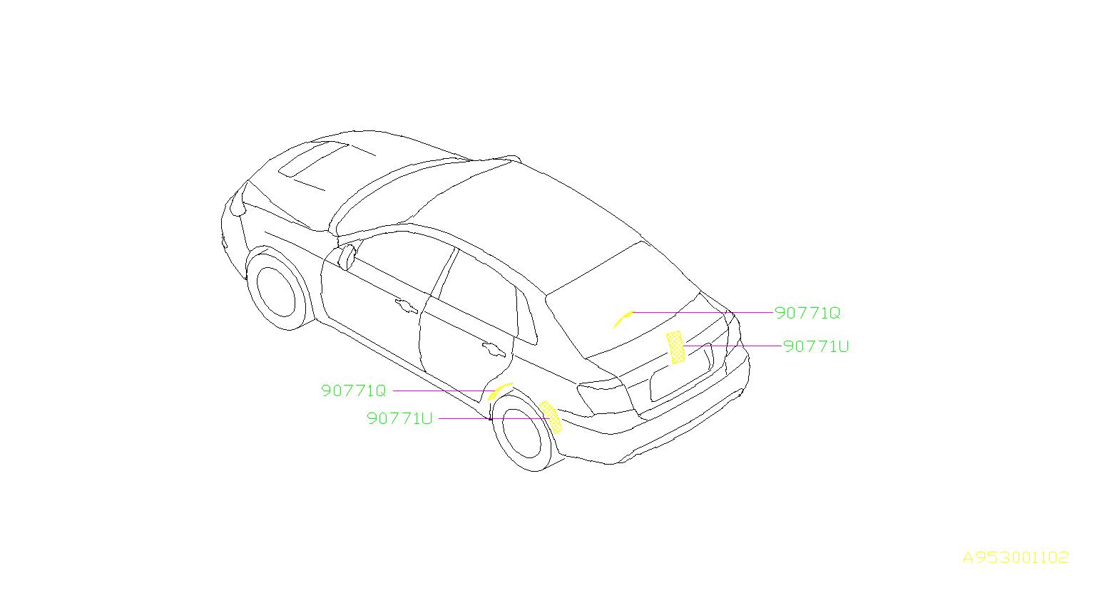 Subaru Wrx Damping Sheet Rear Wheel Apron Rear