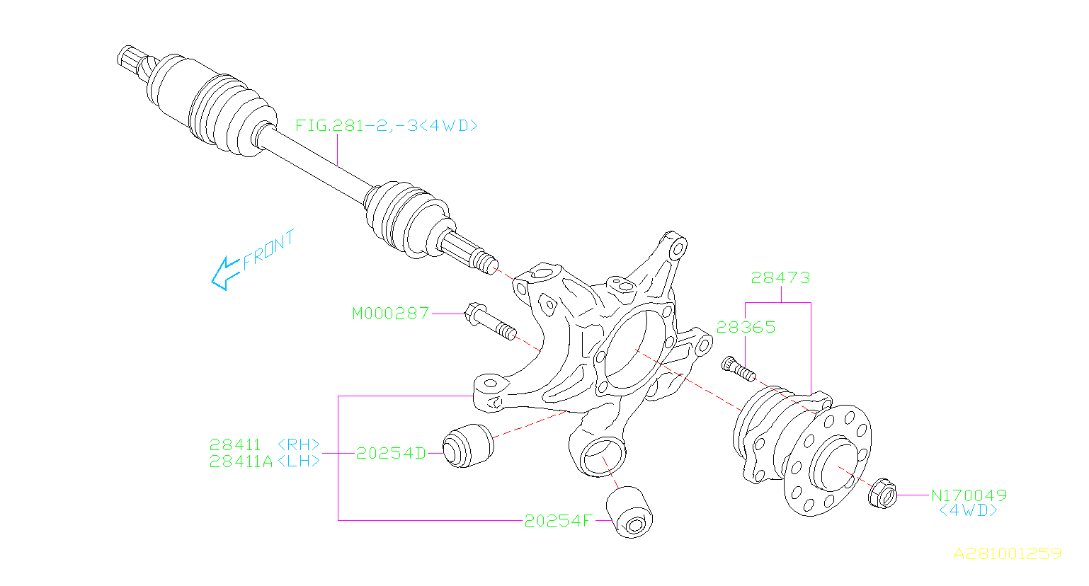 Subaru Outback Bushing Trailing Link Rear Suspension