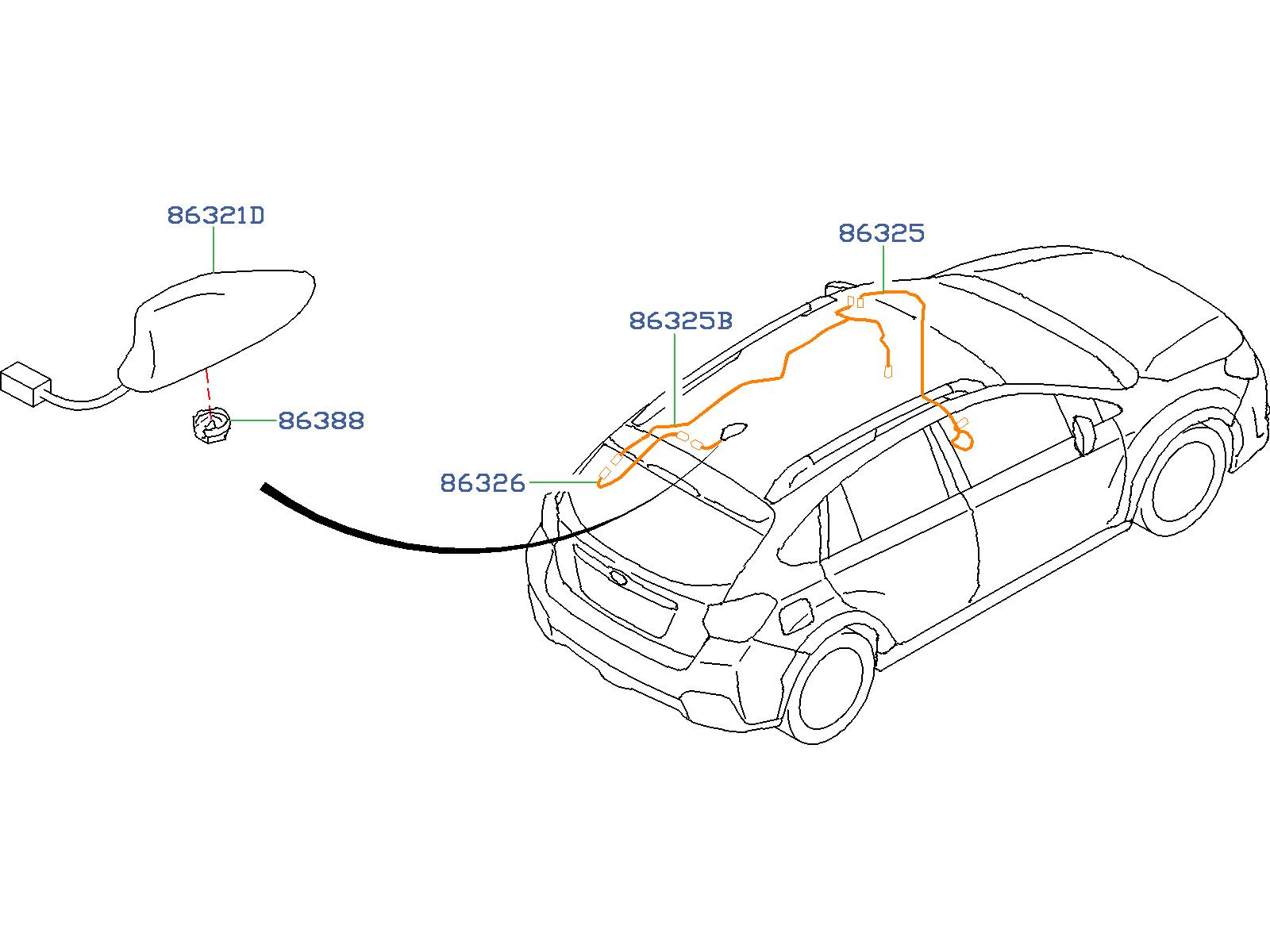 Subaru Crosstrek Antenna Assembly D