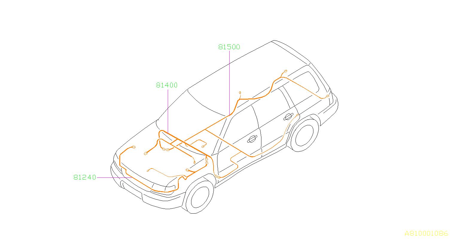 Subaru Forester Harness Bulkhead Utu0u1 Main Wiring