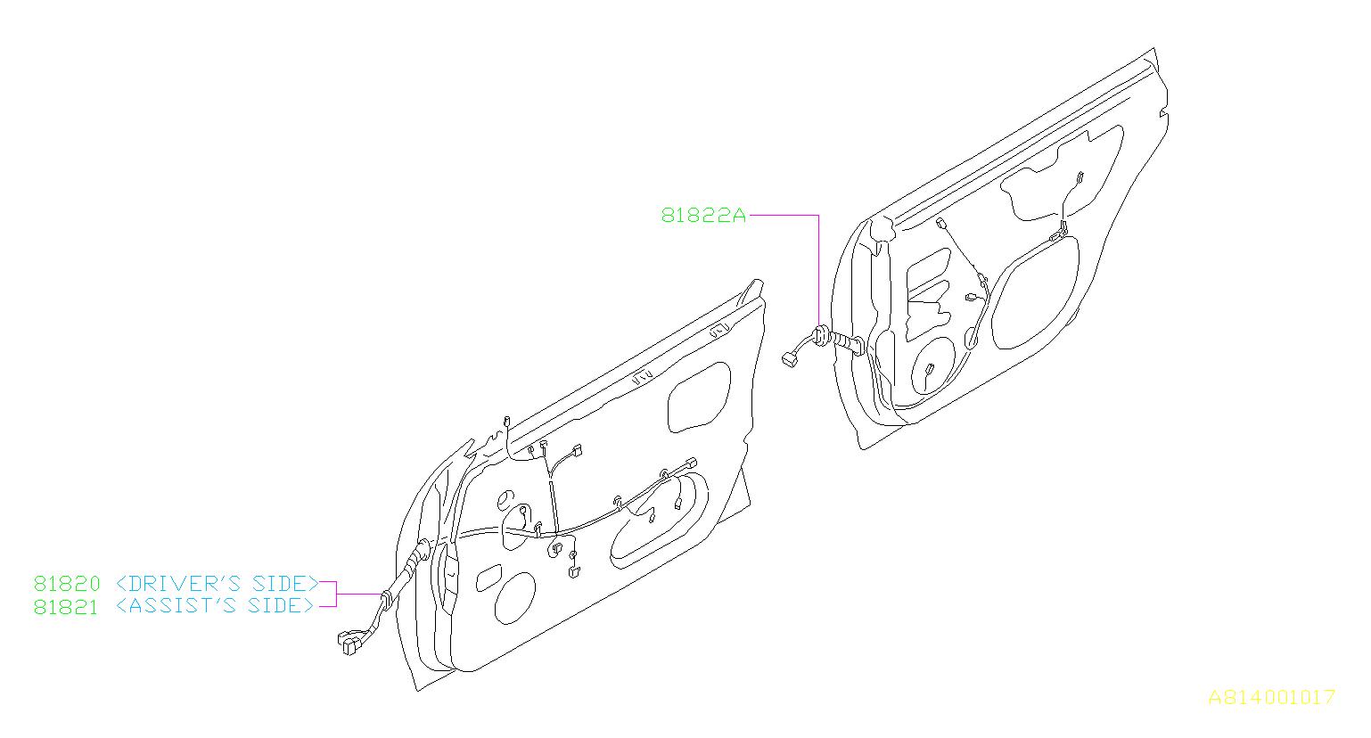 Subaru Forester Cord Door Driver Lock Mir Heated
