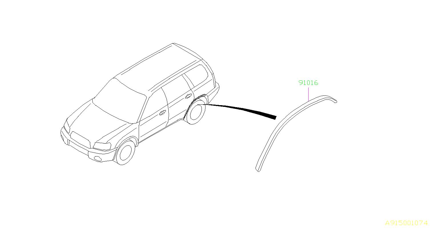 Subaru Forester Protector Rear Arch Right Molding