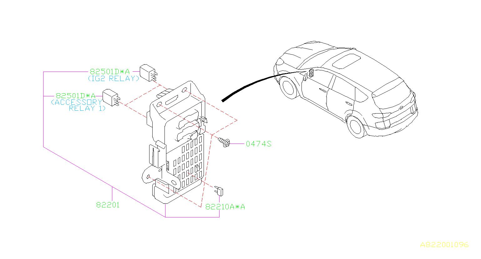 Subaru Tribeca Accessory Power Relay Box Fuse Main