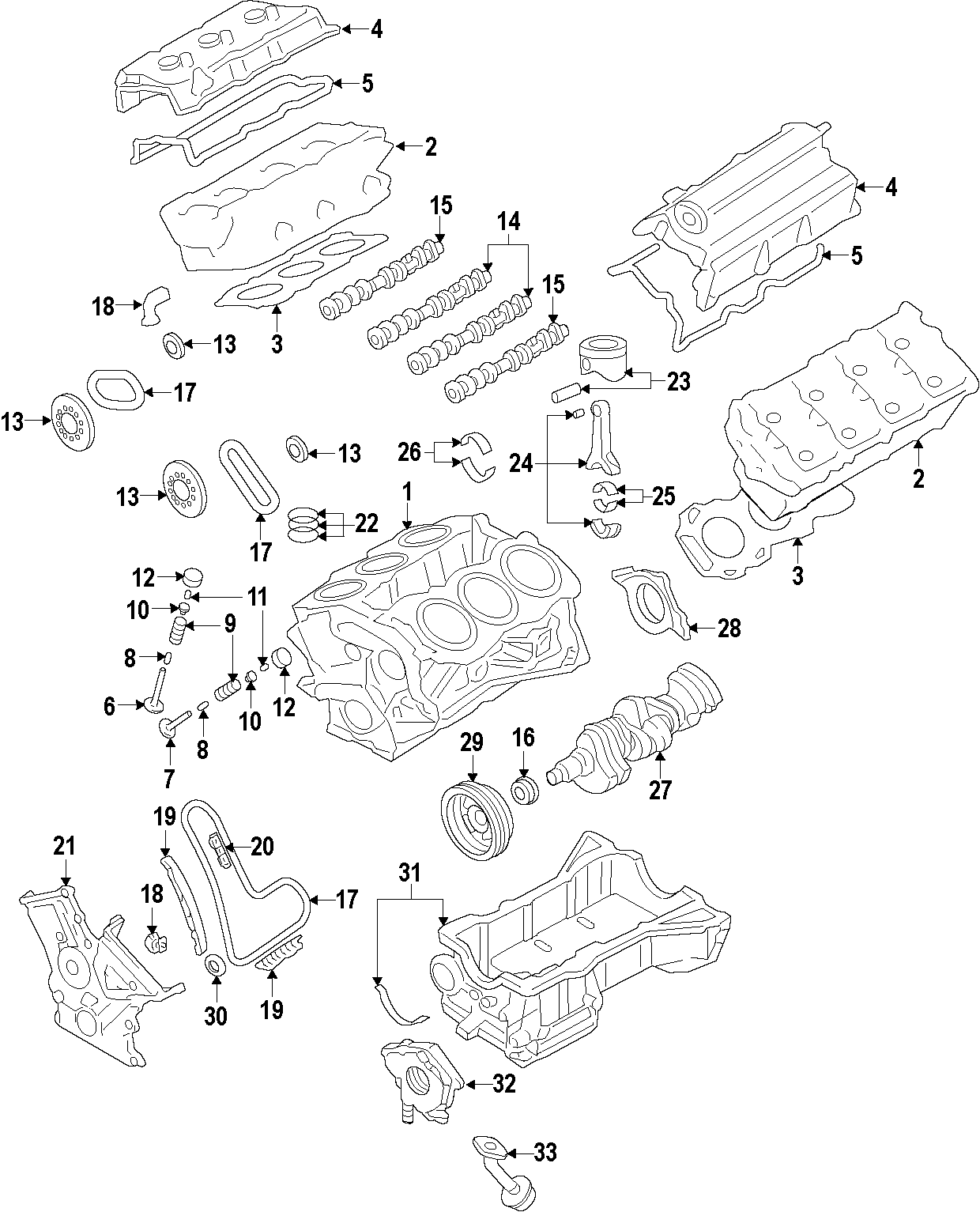 Ford Edge Valve Cover Left Gasket Liter