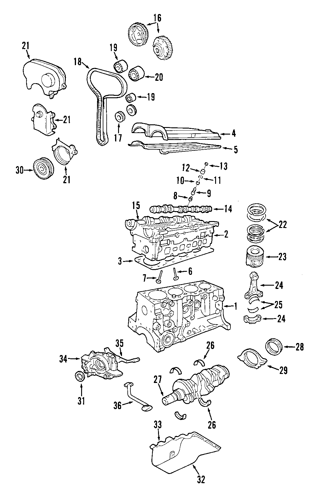 Ford Focus Engine Timing Cover Front Upper Outer