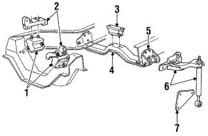 1994 Ford Ranger Vibration damper 40 LITER Engine