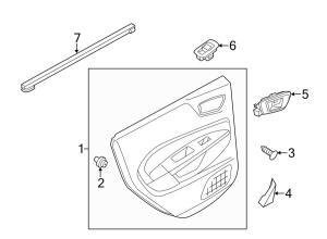 2013 Ford Escape Door trim panel clip Inner cover retainer Rear trim retainer Speaker